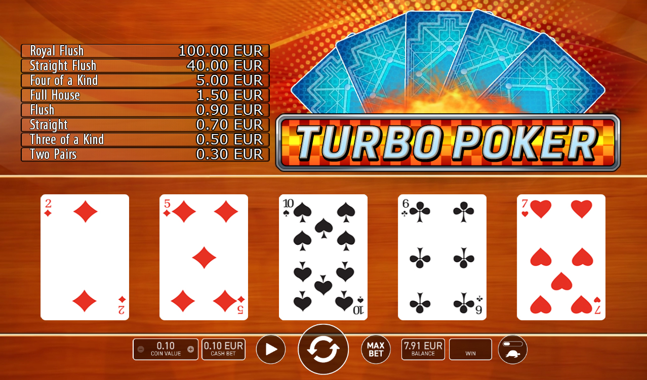 Turbo Poker (Wazdan) - Interface
