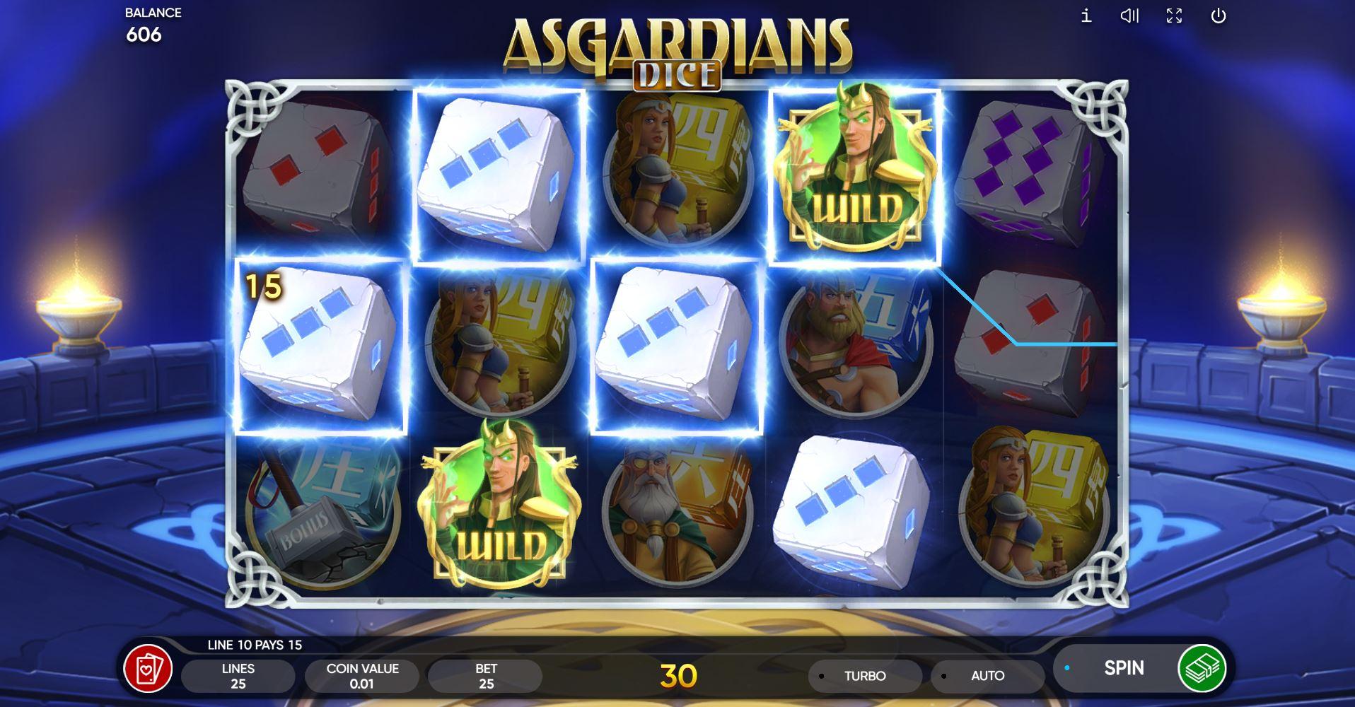 Asgardians Dice - Interface