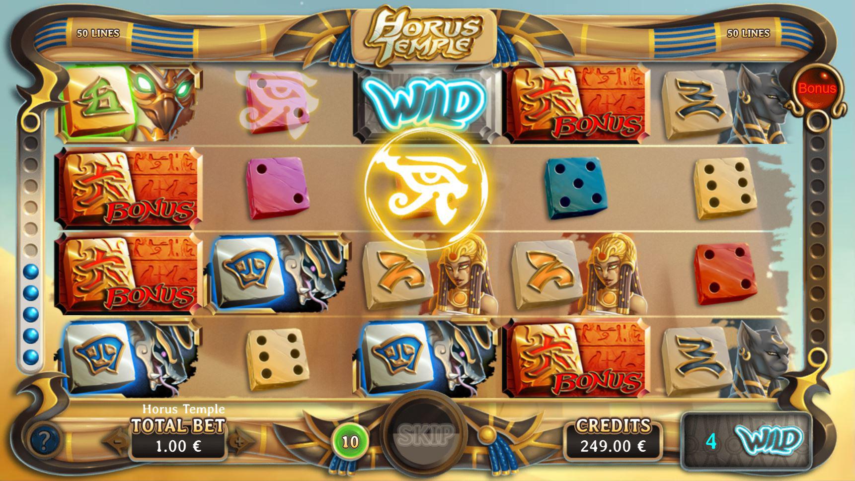 Horus Temple - Interface