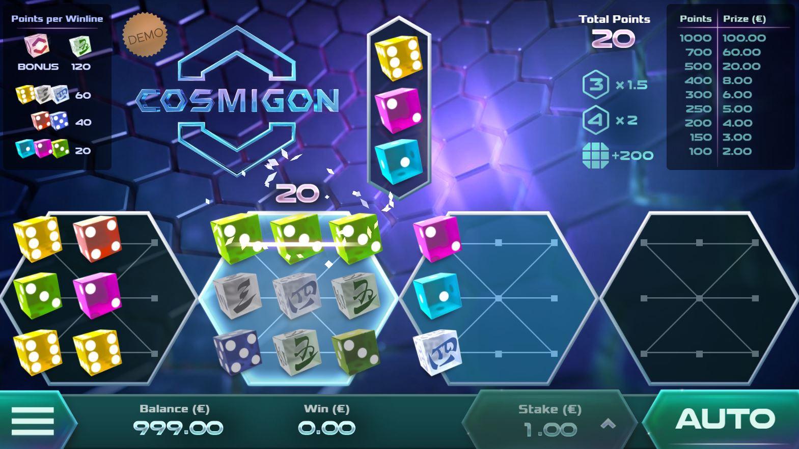 Cosmigon - Interface