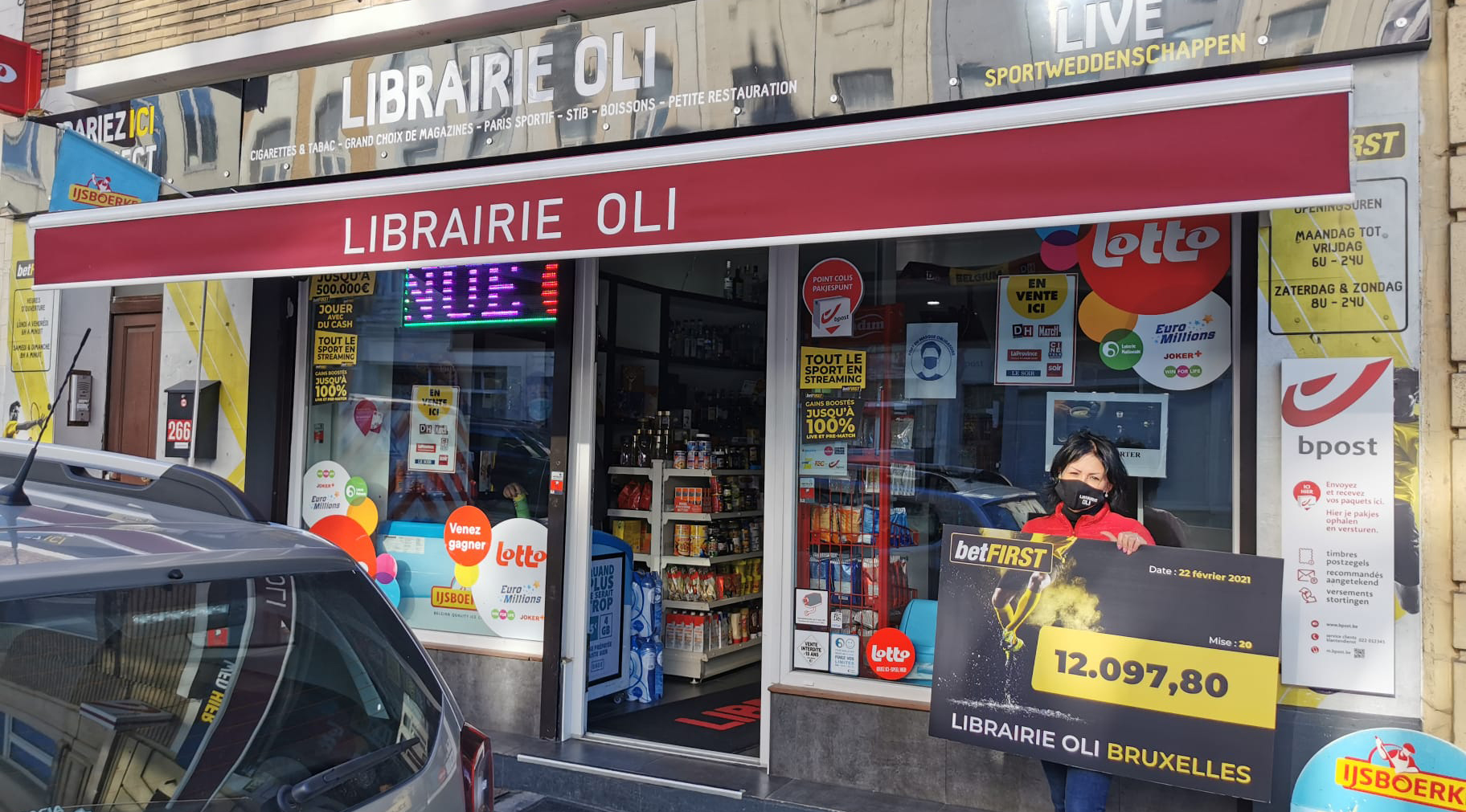 A massive win for a betFIRST player after placing a sports bet at the local Librairie Oli in Brussels