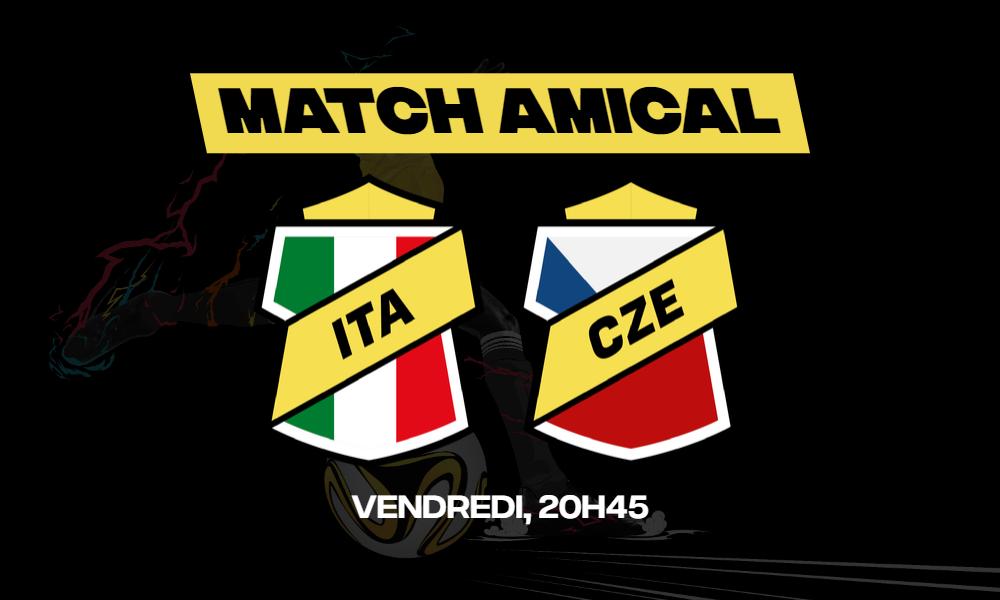 Les derniers réglages pré-Euro sont en cours et les matchs amicaux s'enchaînent. L'Italie vs République tchèque sur betFIRST !